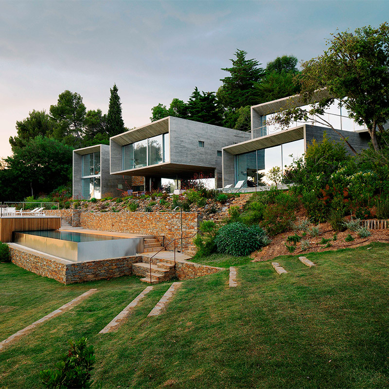 Maison avec les coulissants panoramiques XXL par Weeeze