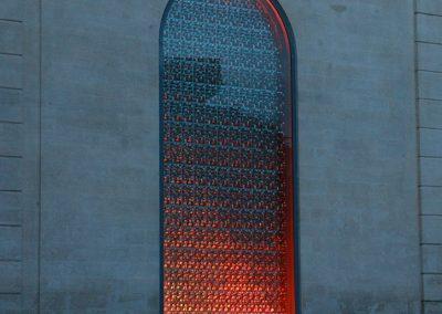 Vitrail lumineux orange - Vitrail du Conservatoire de Musique, Danse et Théâtre d'Avignon