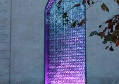 Vitrail lumineux violet - Conservatoire de Musique, Danse et Théâtre d'Avignon