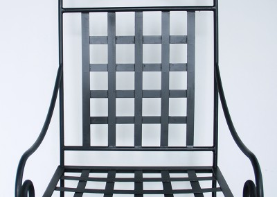 Chaise fer forgé acier