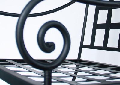 Chaise fer forgé - détail