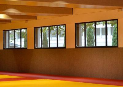 Fenêtres coulissantes acier à 4 battants