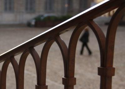 Garde-corps à l'ancienne restauré