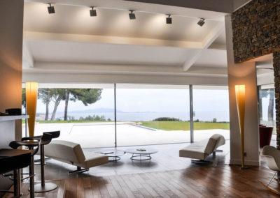 Maison avec vue depuis les coulissants panoramiques grande hauteur Weeeze