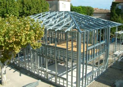 Bâtiment en ossature légère acier en construction