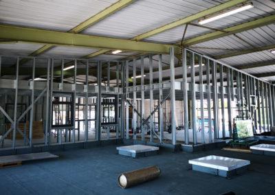 Aménagement intérieur de bâtiment en ossature légère acier
