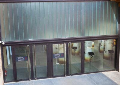 Portes d'entrée acier vitrées pare-balles et anti-explosion