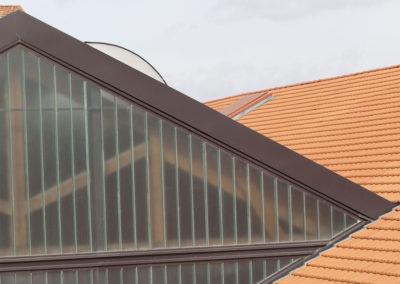 Verrière en métal de toit